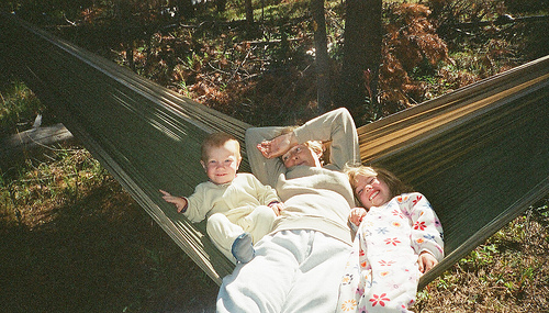 Fisher & Grandma in Hammock