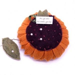 Sunflower Pin Cushion